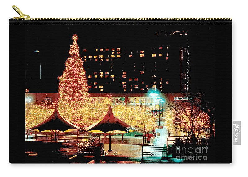 Gary Gingrich Carry-all Pouch featuring the photograph Crown Center Christmas - Kansas City-1 by Gary Gingrich Galleries