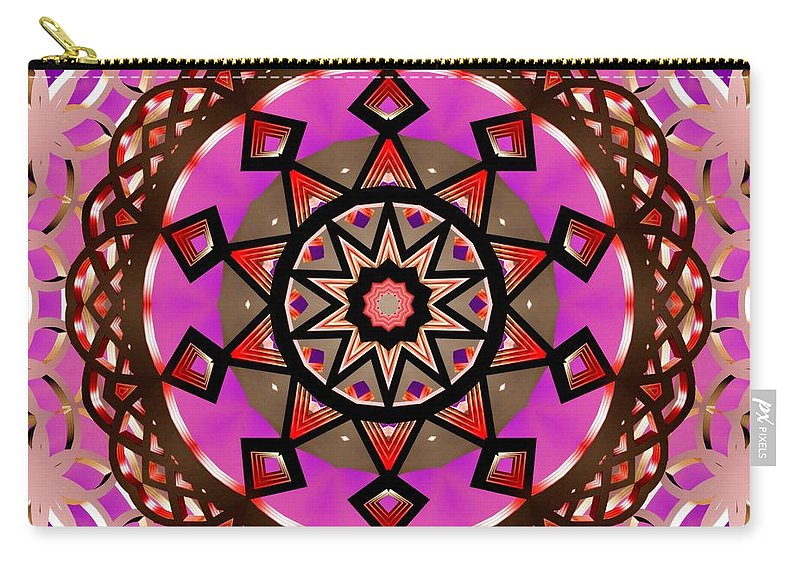 Sacredlife Mandalas Carry-all Pouch featuring the digital art Crown Gateway by Derek Gedney