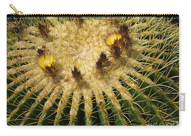 Cactus Carry-all Pouch featuring the photograph Crown Of Thorns by Christiane Schulze Art And Photography