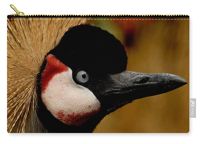 Africa Carry-all Pouch featuring the photograph Crowned Crane by TouTouke A Y