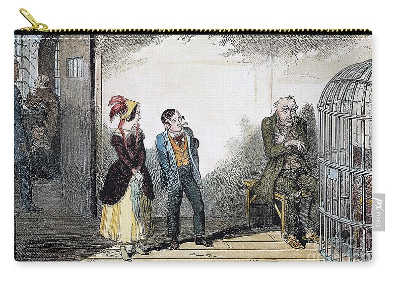 1847 Carry-all Pouch featuring the photograph Cruikshank: Temperance by Granger