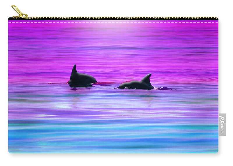 Seascapes Carry-all Pouch featuring the photograph Cruisin' Together by Holly Kempe