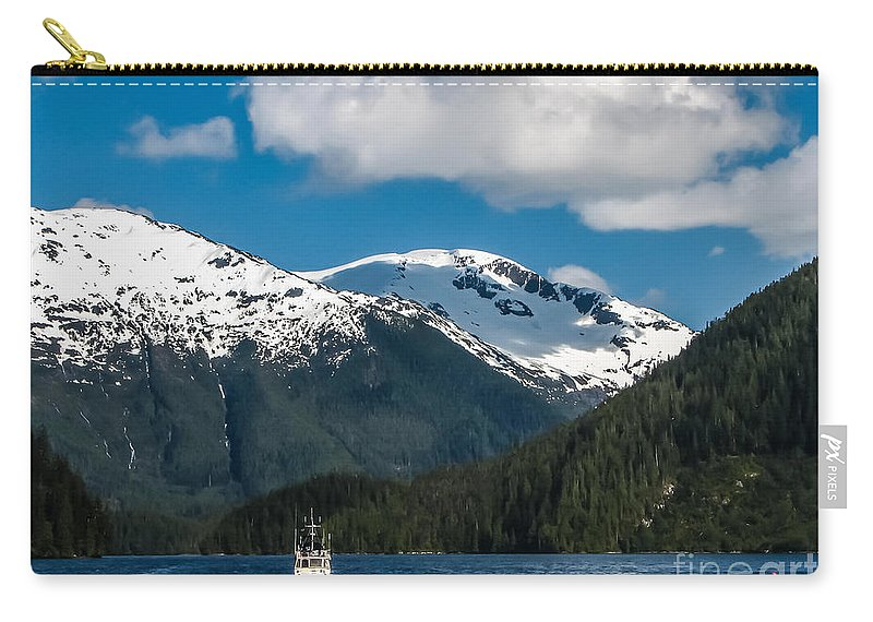Alaska Carry-all Pouch featuring the photograph Cruising Alaska by Robert Bales
