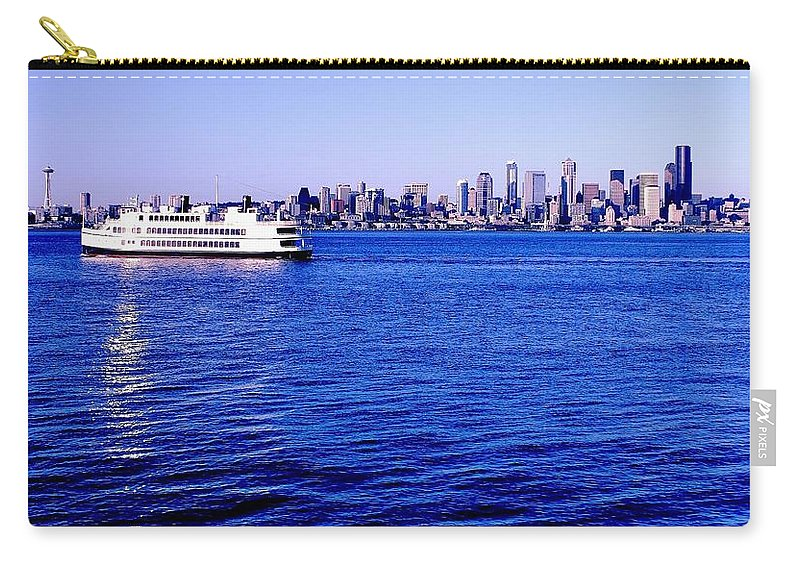 Seattle Carry-all Pouch featuring the photograph Cruising Elliott Bay by Benjamin Yeager