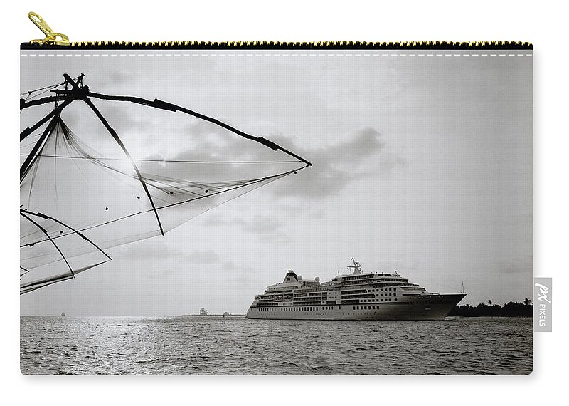 Chinese Carry-all Pouch featuring the photograph Cruising Into Cochin by Shaun Higson