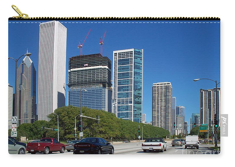 Cities Carry-all Pouch featuring the photograph Cruising North On Lake Shore Drive In Chicago by Thomas Woolworth
