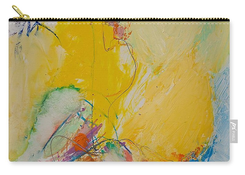 Abstract Carry-all Pouch featuring the painting Crystal by Allan P Friedlander
