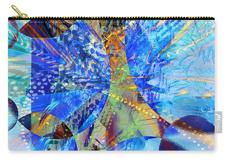 Crystal Blue Persuasion Carry-all Pouch featuring the digital art Crystal Blue Persuasion by Seth Weaver