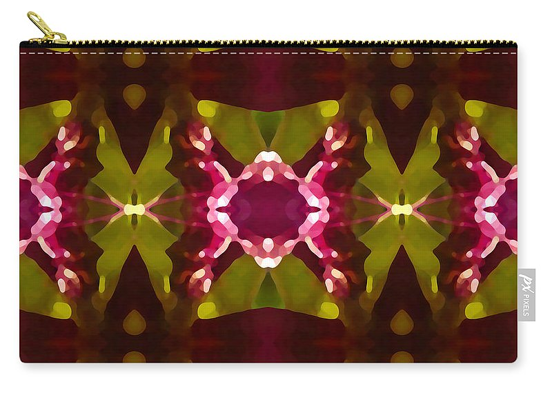 Abstract Carry-all Pouch featuring the painting Crystal Butterfly Pattern by Amy Vangsgard