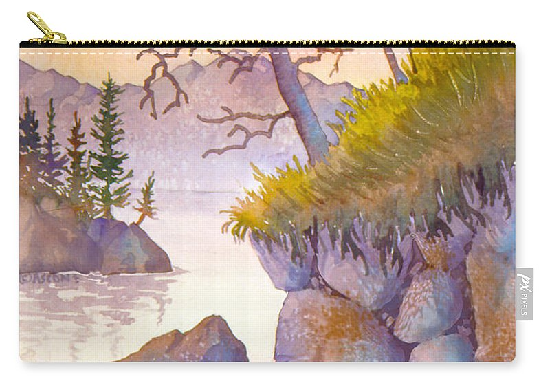 Crystal Clear Near Admiralty Island Carry-all Pouch featuring the painting Crystal Clear Near Admiralty Island by Teresa Ascone