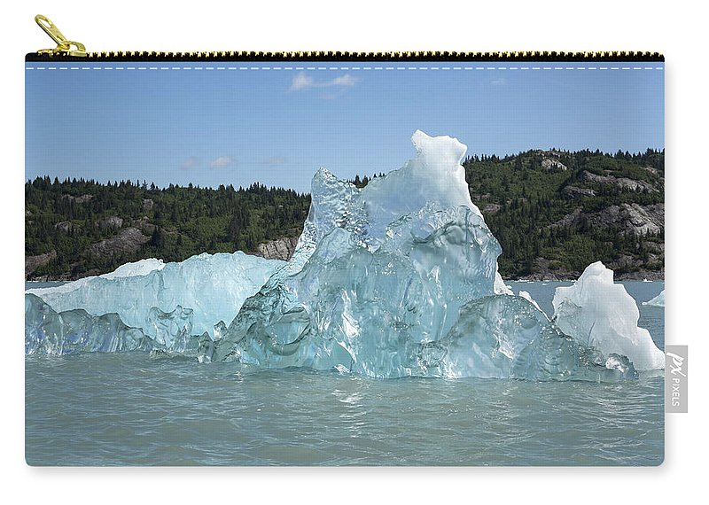 Ice Carry-all Pouch featuring the photograph Crystal Clear by Ted Raynor