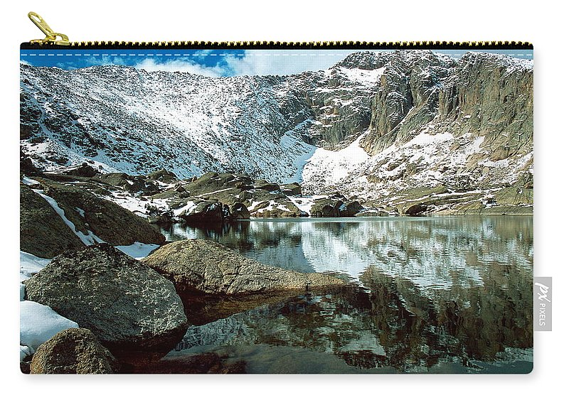 Landscape Carry-all Pouch featuring the photograph Crystal Lake by Eric Glaser