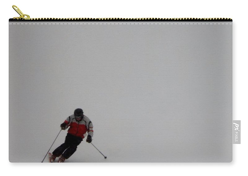Winter Carry-all Pouch featuring the photograph Crystal Mountain Skier by Linda Kerkau