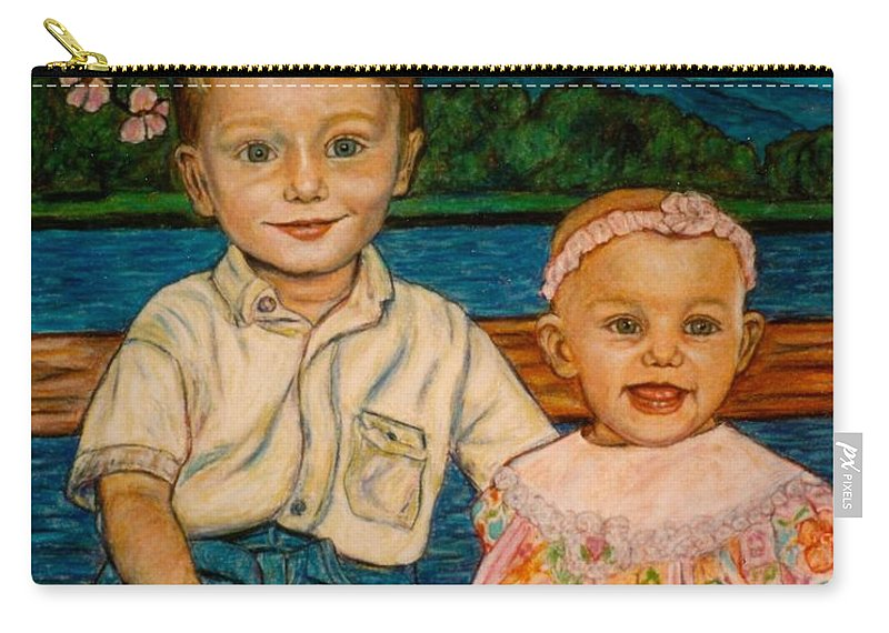Children Carry-all Pouch featuring the painting Crystal's Children by Kendall Kessler