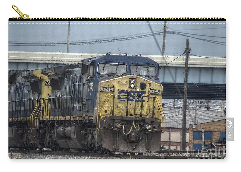 Columbus Carry-all Pouch featuring the photograph Csx 7745 Engine 01 by J M Lister