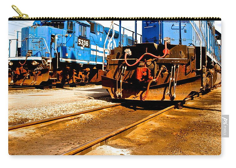 Csx Carry-all Pouch featuring the photograph Csx Railroad by Frozen in Time Fine Art Photography