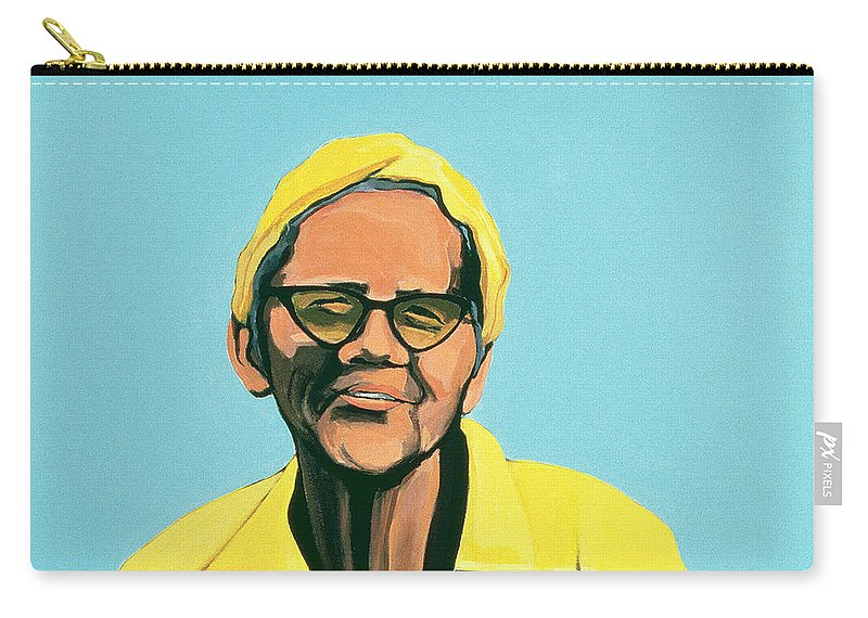 Male Carry-all Pouch featuring the painting Cuban Portrait #13, 1996 by Marjorie Weiss