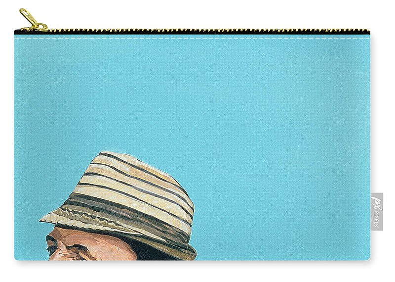 Male Carry-all Pouch featuring the painting Cuban Portrait #8, 1996 by Marjorie Weiss