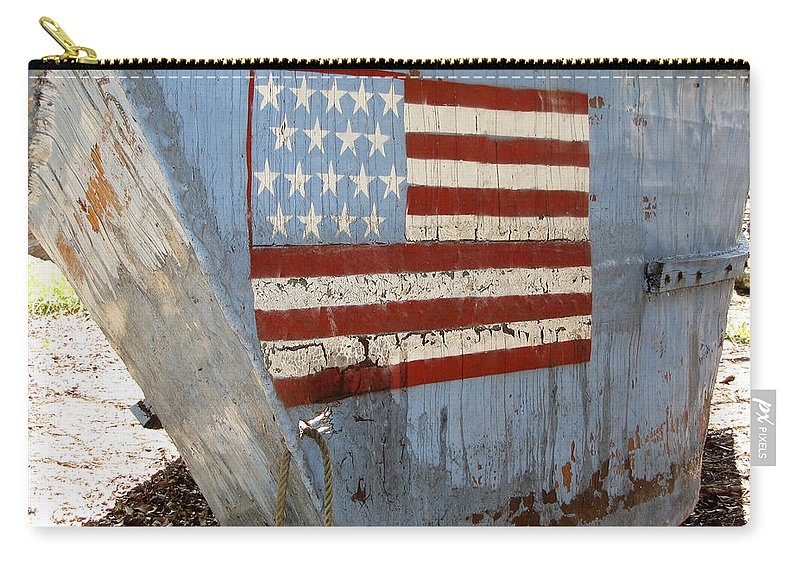 Refugee Carry-all Pouch featuring the photograph Cuban Refugee Boat 4 by Bob Slitzan