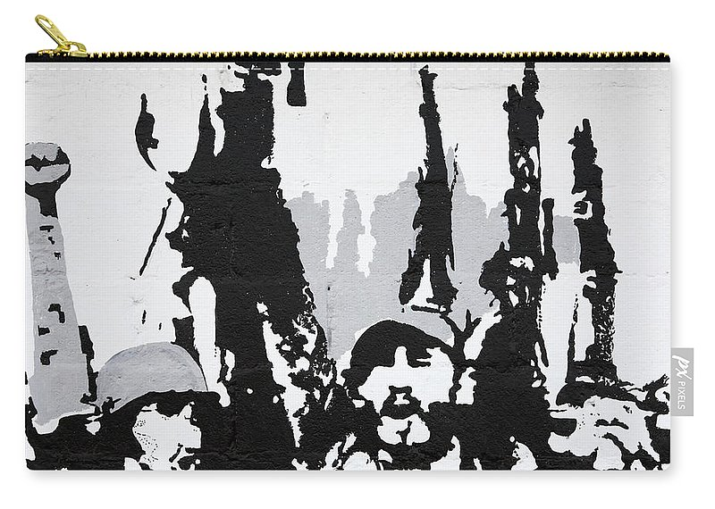 Art Carry-all Pouch featuring the photograph Cuban Revolution Painted On A Wall by Deborah Benbrook