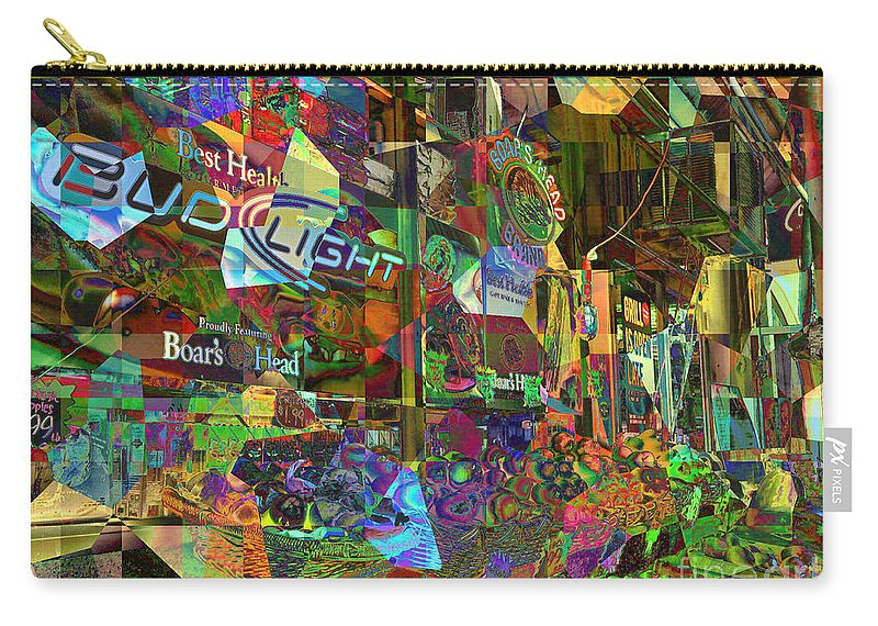 Night Market Carry-all Pouch featuring the photograph Night Market - Outdoor Markets Of New York City by Miriam Danar