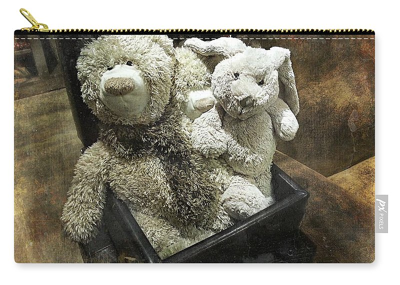 Teddy Carry-all Pouch featuring the photograph Cuddle Toys by Barbara Orenya