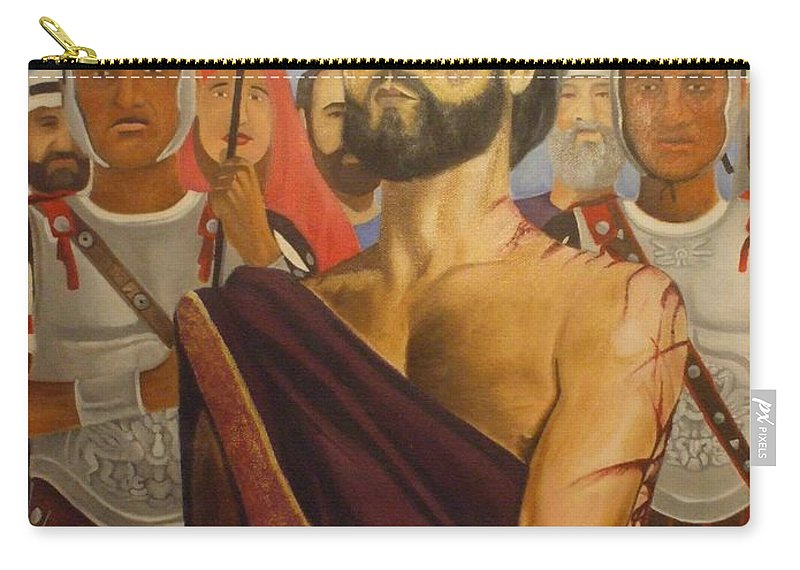 Mary Carry-all Pouch featuring the painting Cuiseufiction Of Christ by Jamie Preston
