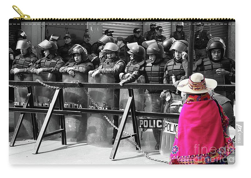 Policemen Carry-all Pouch featuring the photograph Culture Clash by James Brunker