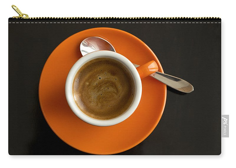 Coffee Carry-all Pouch featuring the photograph Cup Of Coffee by Chevy Fleet