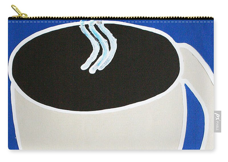 Coffee Carry-all Pouch featuring the painting Cup Of Coffee by Matthew Brzostoski