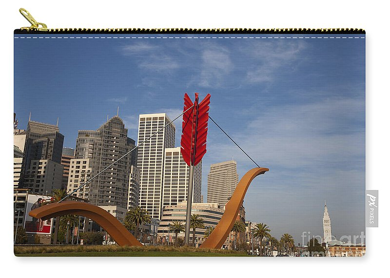 Cupid's Span Carry-all Pouch featuring the photograph Cupids Arrow San Francisco by Jason O Watson