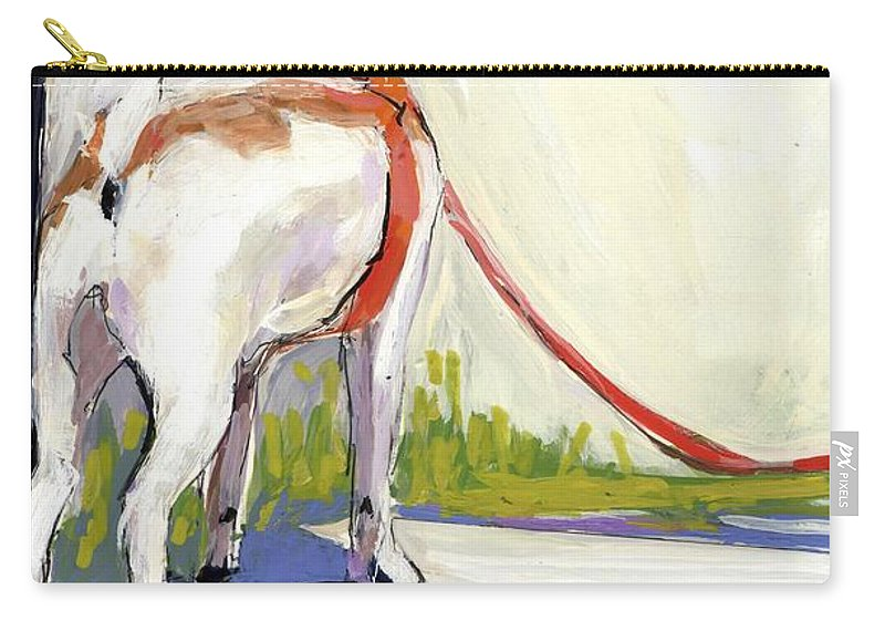 Dog Carry-all Pouch featuring the painting Curbside by Molly Poole