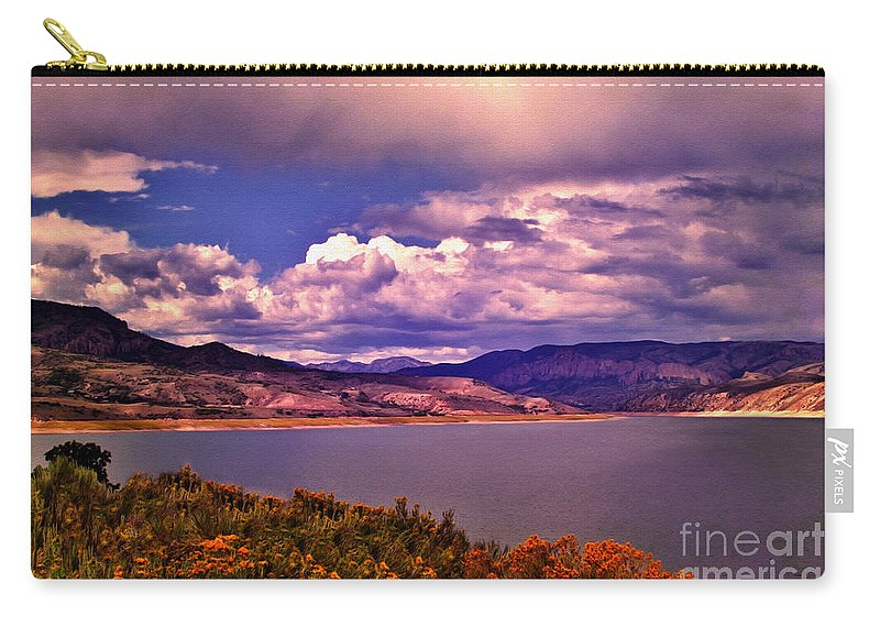 Crazy Woman Art Carry-all Pouch featuring the photograph Curecanti Autumn Blue Mesa Colorado by Janice Pariza