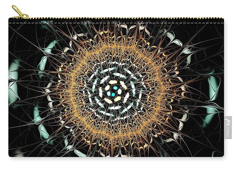 Peculiar Carry-all Pouch featuring the digital art Curious Moth by Anastasiya Malakhova