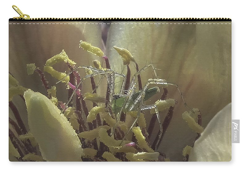 Cactus Carry-all Pouch featuring the photograph Current Resident by Lorraine Harrington