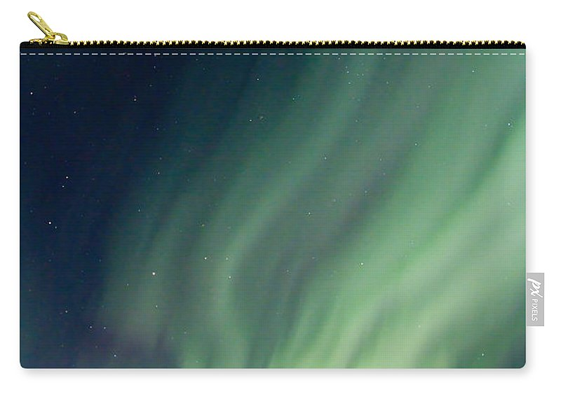 Aurora Borealis Carry-all Pouch featuring the photograph Curtain Whispers by Ed Boudreau