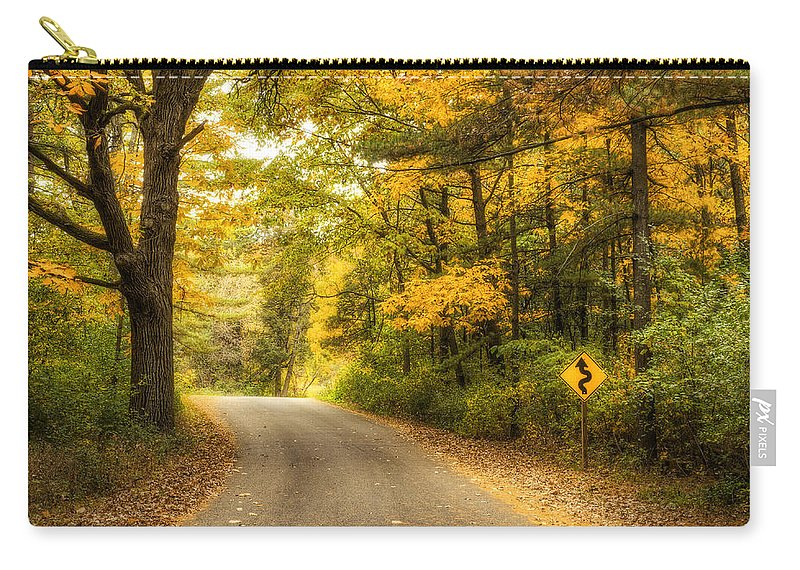 Autumn Carry-all Pouch featuring the photograph Curves Ahead by Scott Norris