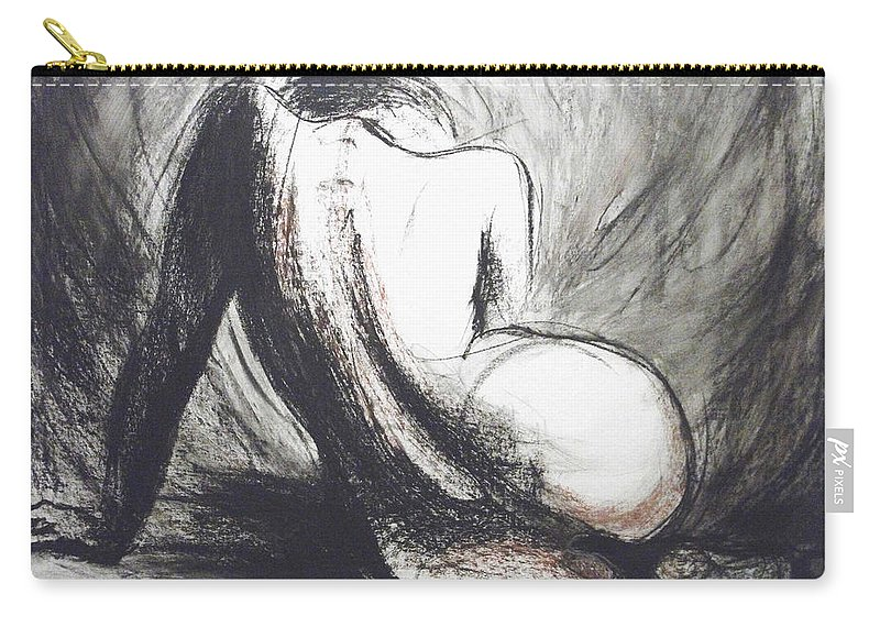 Curves16 Carry-all Pouch featuring the painting Curves16 by Carmen Tyrrell