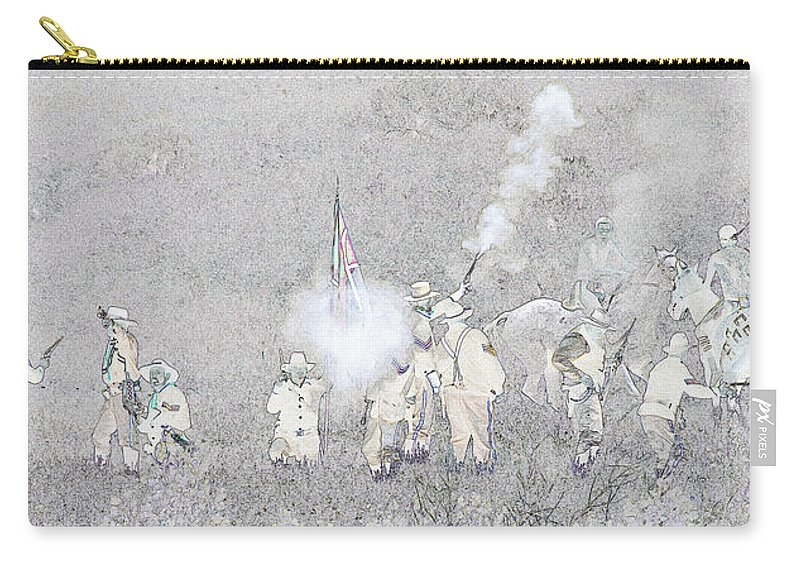 Custers Last Stand Carry-all Pouch featuring the photograph Custers Last Stand by Wes and Dotty Weber