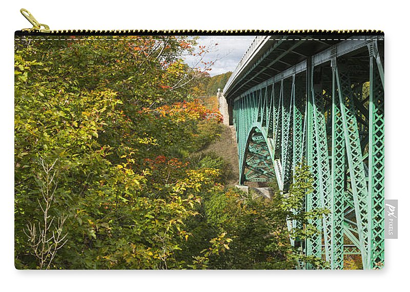 Cut Carry-all Pouch featuring the photograph Cut River Bridge 2 by John Brueske