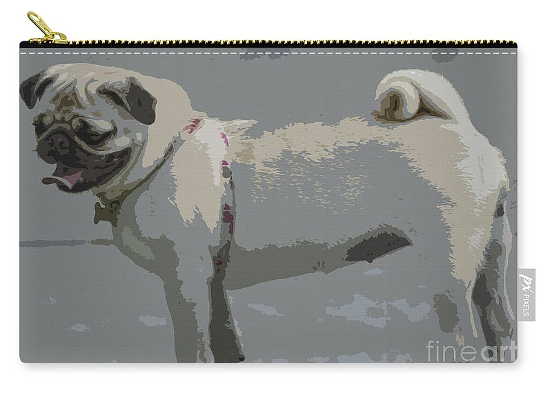 Cute Carry-all Pouch featuring the photograph Cute Puggy Dog by Jivko Nakev