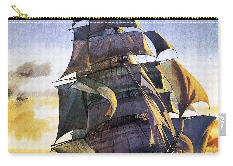 Cutty Sark Carry-all Pouch featuring the painting Cutty Sark by English School