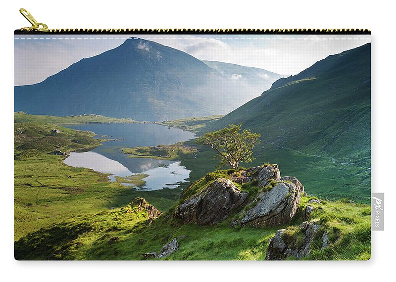 Tranquility Carry-all Pouch featuring the photograph Cwm Idwal, Snowdonia, North Wales by Alan Novelli