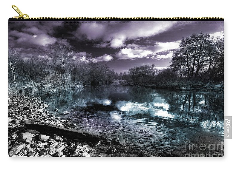 River Carry-all Pouch featuring the photograph Cyan River by Rob Hawkins