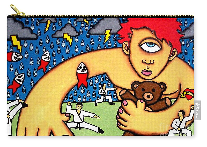 Cyclops Carry-all Pouch featuring the painting Cyclops I Want To Sleep by Thomas Valentine