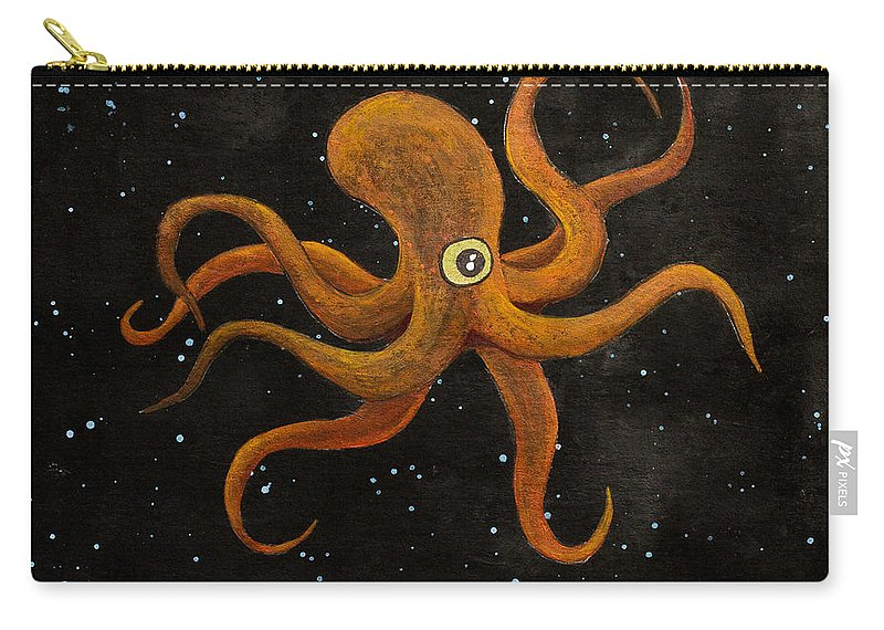 Carry-all Pouch featuring the painting Cycloptopus Black by Stefanie Forck