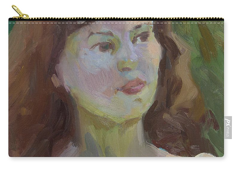 Cynthia Carry-all Pouch featuring the painting Cynthia by Diane McClary