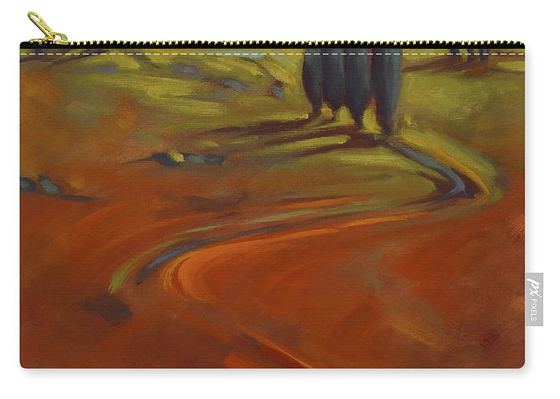 Cypress Carry-all Pouch featuring the painting Cypress Hills 3 by Konnie Kim