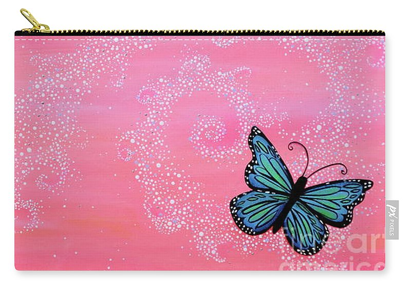 Cypress Paintings Carry-all Pouch featuring the painting Cypress Wand by Deborha Kerr