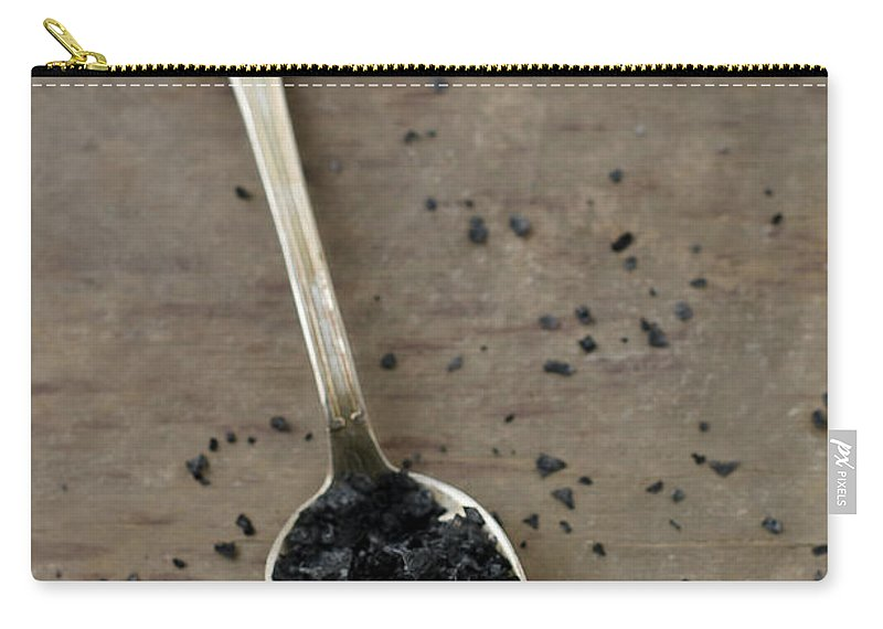 Mineral Carry-all Pouch featuring the photograph Cyprus Black Sea Salt by Tania Mattiello